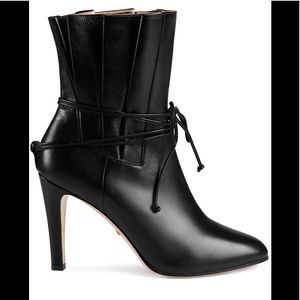 2020 Runway GUCCI Indya Pleated Bow Tie Bootie 41